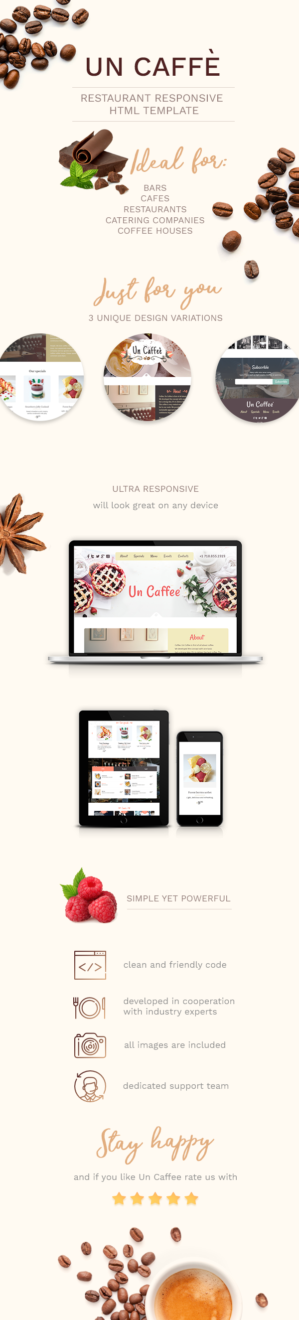 Un Caffe - Coffeehouse and Restaurant HTML Template - 1